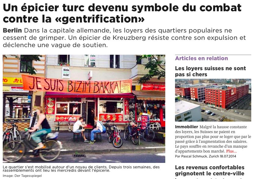 Screenshot aus der Online-Ausgabe von 24 heures
