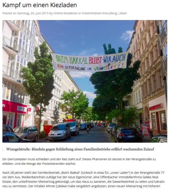 Berliner Abendblatt Artikel vom 20.06.2015
