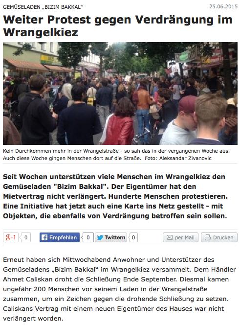 Screenshot aus der Berliner Zeitung