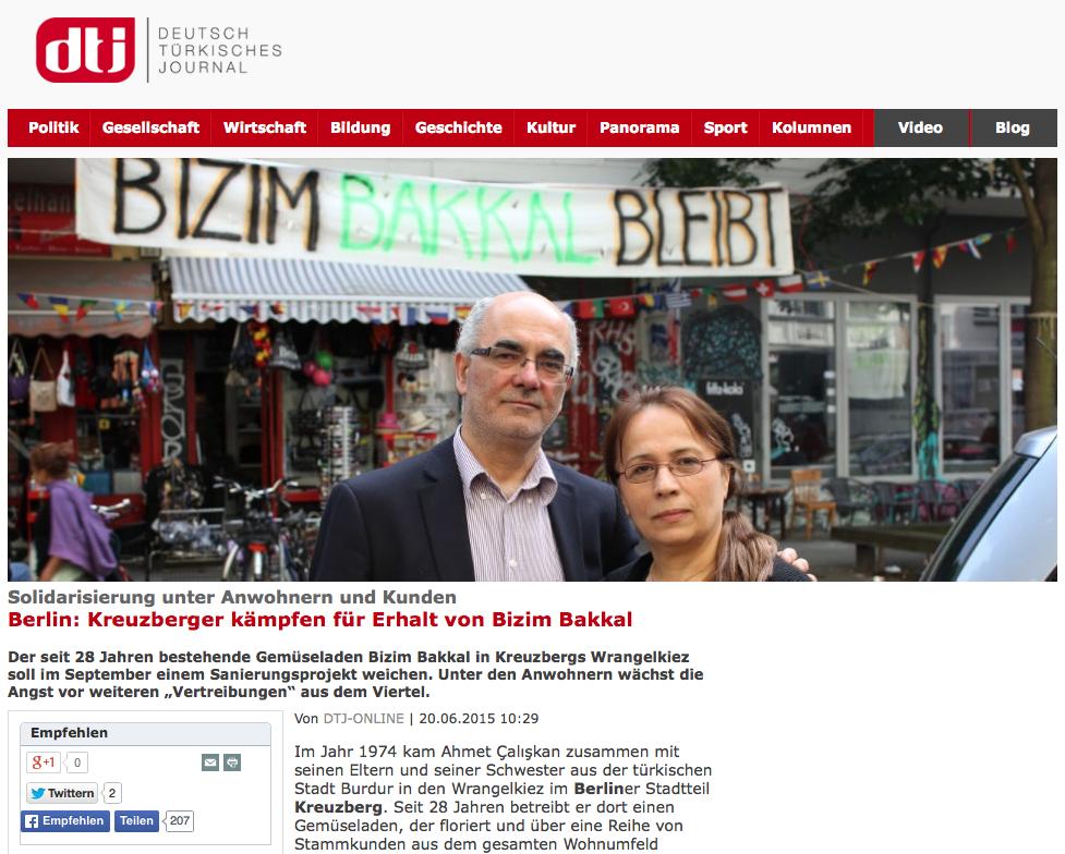 Screenshot aus dem Deutsch Türkischen Journal
