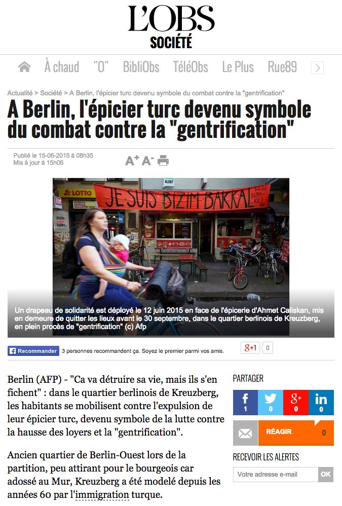 Screenshot des Artikels