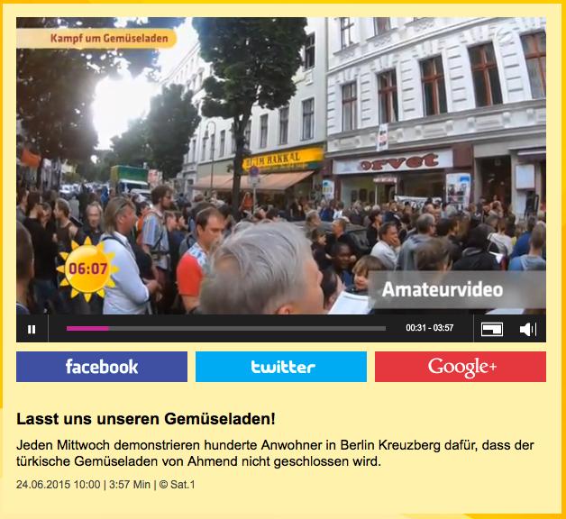 Screenshot vom Online-Auftritt von Sat.1