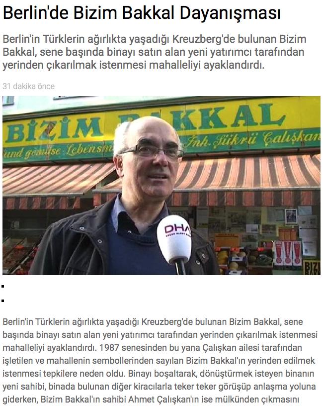 Screenshot aus SonDakika.com