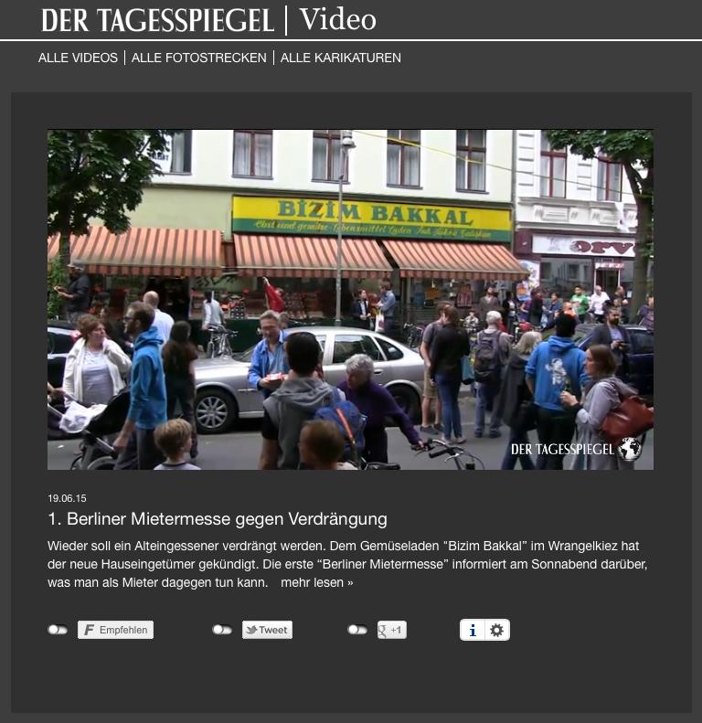 Video im Tagespiegel vom 19. Juni 2015