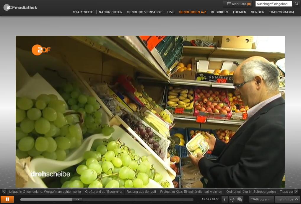 Screenshot aus der ZDF Mediathek