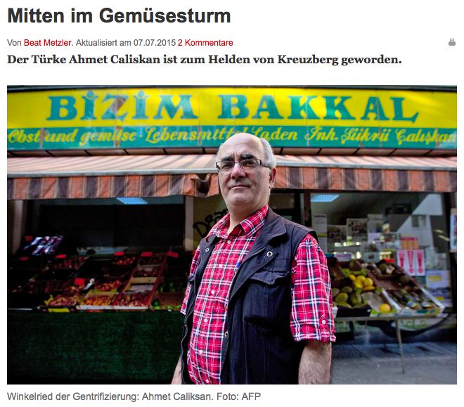 Screenshot aus der Online-Ausgabe der Basler Zeitung