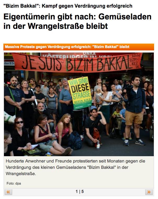 Screenshot aus dem Online-Auftritt des Berliner Kuriers