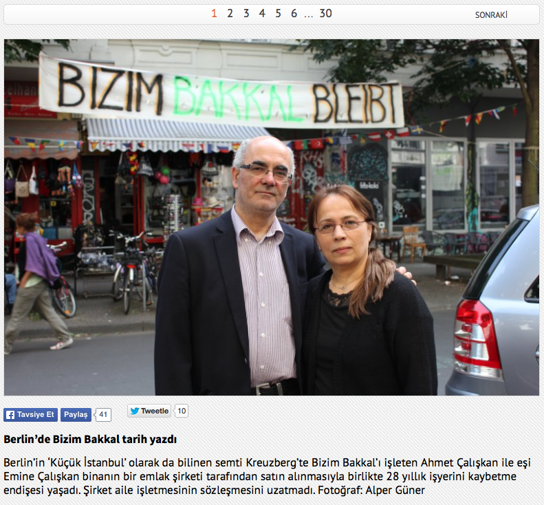 Screenshot aus »Zaman Online«