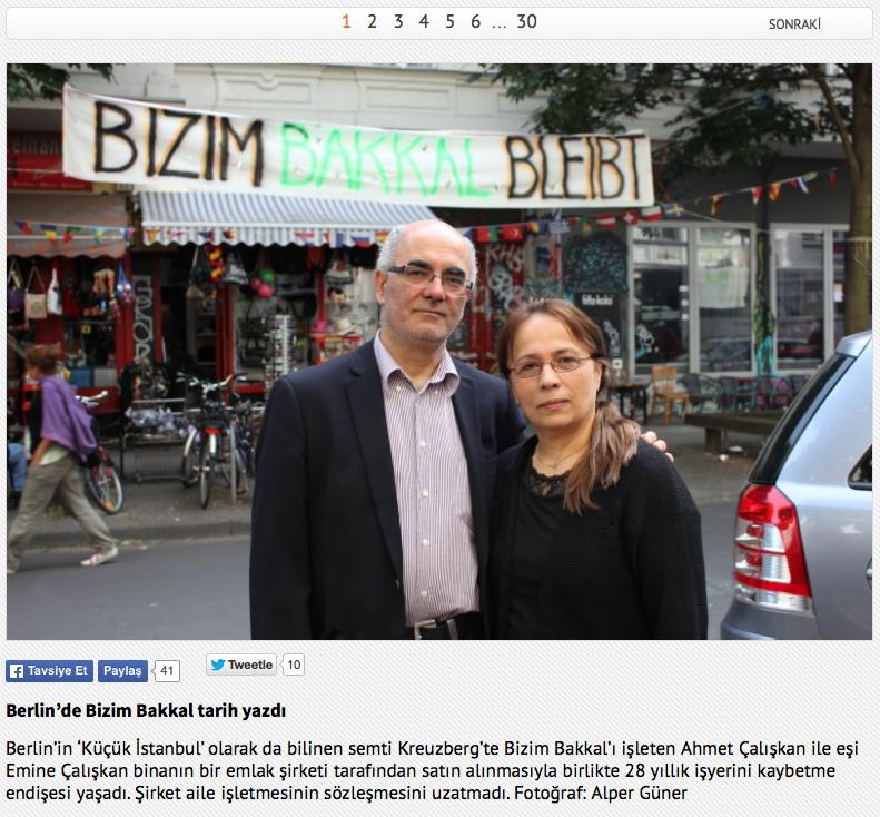 Screenshot aus »Zaman Online«
