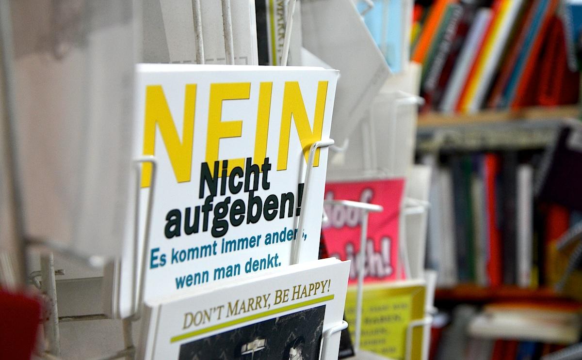 """Postkarte """"Nein, nicht aufgeben!"""""""