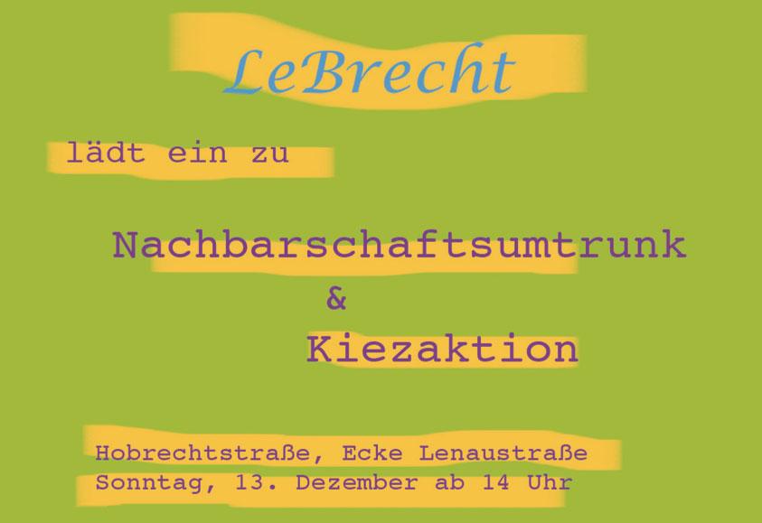 Einladung zur ersten Infoveranstaltung am 13. Dezember.