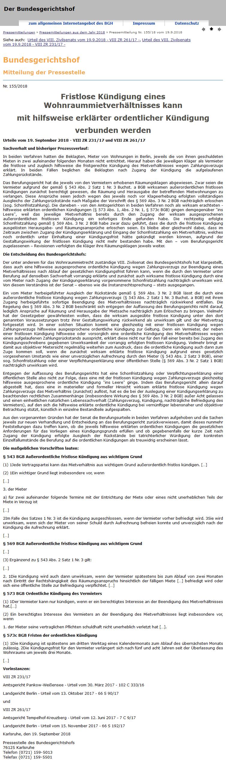 Kündigung Mietvertrag Durch Vermieter Bgb Hindu Tube