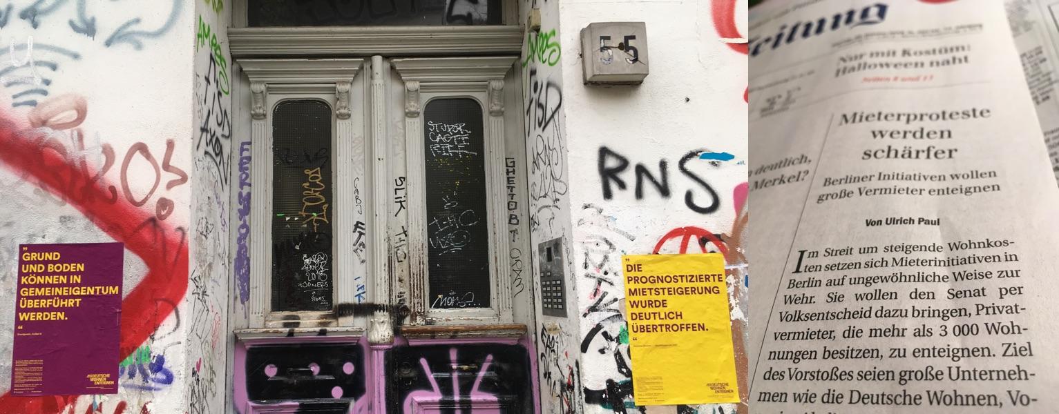 R55 Plakate Deutsche Wohnen Bizim Kiez Unser Kiez